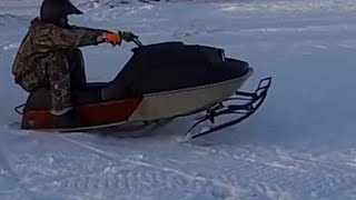 Trying To Blow Up The Vintage SKi Doo Snowmobile