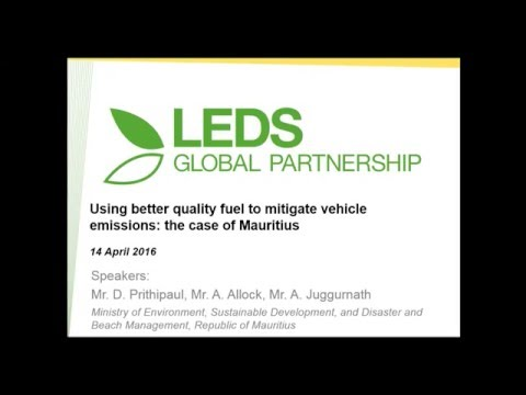 Mitigating vehicular emissions using better quality fuel: the case of Mauritius