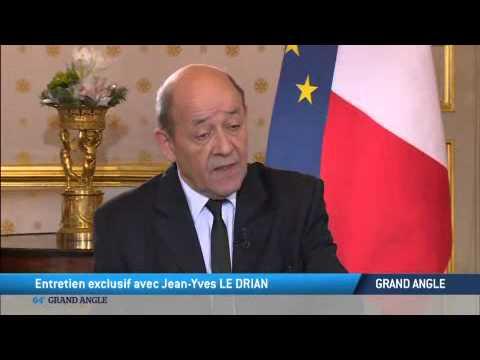 Entretien exclusif avec Jean-Yves Le Drian, ministre français de la Défense sur TV5MONDE