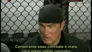 Steven Seagal teaches Anderson Silva some moves
