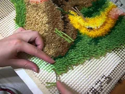 Ковровая техника вышивания в