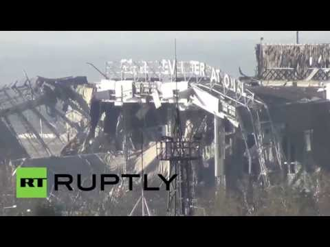 Ukraine: Donetsk airport in ruins as fighting continues despite ceasefire
