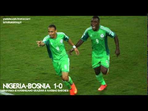NIGERIA-BOSNIA 1-0 - Radiocronaca di Massimiliano Graziani (21/6/2014) MONDIALI 2014 su Radiouno RAI
