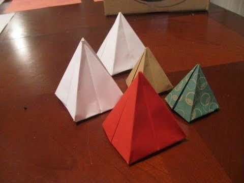 how to make 3d triangles out of paper videolike. Black Bedroom Furniture Sets. Home Design Ideas