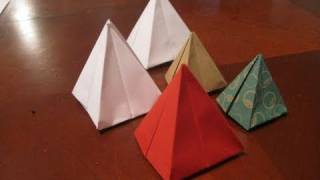 Make An Origami Pyramid