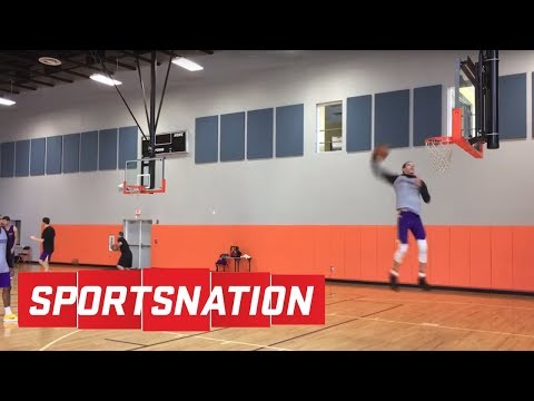 Lonzo Ball vs. Kyle Kuzma in a dunk contest | SportsNation | ESPN