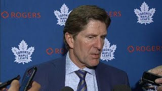 """Leafs """"not even close"""" to where they were last year, says Babcock"""