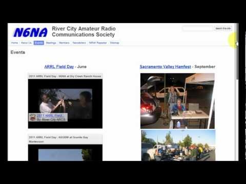 A walk through of the River City Amateur Radio Communications Society's web ...