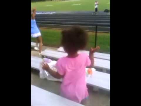 Shayleah My Grandbaby Cheering at North Stanly High School Football Game