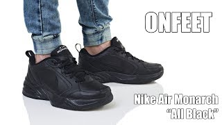 "Onfeet Nike Air Monarch IV ""All Black"" (415445-001) Review 