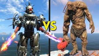 Fallout 4 - 50 ASSAULTRON GORGONS vs 30 BEHEMOTHS - Battles #36