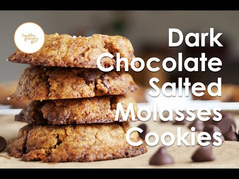 Dark Chocolate Salted Molasses Cookies | How To: Easy Holiday Recipes | Healthy Grocery Girl®