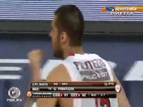 CSKA - OLYMPIAKOS 61-62 ΙΤΑΛΙΚΗ περιγραφή! Euroleague Final 2012