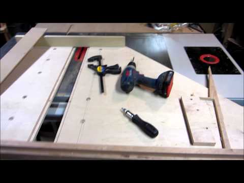 DIY Table Saw Crosscut Sled Part 1