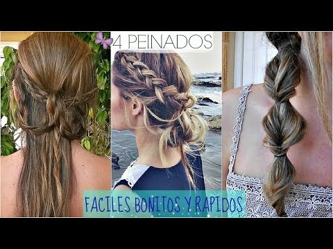 4 PEINADOS FACILES Y RAPIDOS PARA IR A CLASE!!  Back To School Hair Styles