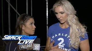 Charlotte takes aim at the first-ever female Triple Crown: SmackDown LIVE Fallout, July 11, 2017
