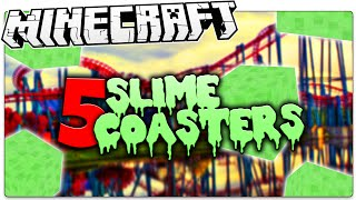 5 Minecraft Slime Rollercoasters You HAVE To Ride! (Minecraft Slime Multi Launchers)