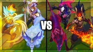 All VS Legendary Skins Spotlight God King Nightbringer Dawnbringer (League of Legends)
