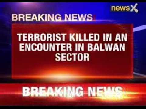 Terrorist killed in an encounter in Balwan sector in Kupwara