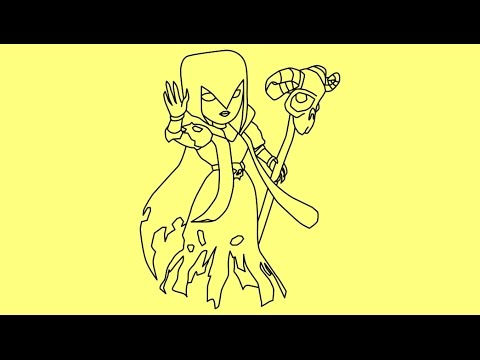 Healer Clash of Clans Drawing How to Draw Clash of Clans
