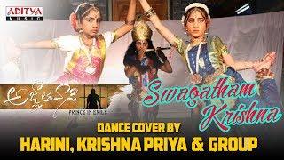 Swagatham Krishna Dance Cover By Harini, Krishna Priya & Group || Agnyaathavaasi Songs