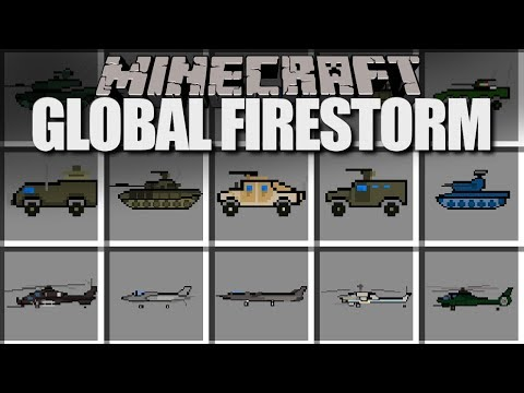Minecraft Flans Mod GLOBAL FIRESTORM (TANKS, BOMBERS, & MORE!) Content Pack Review