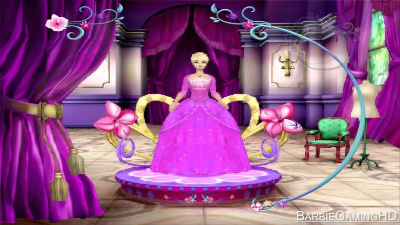 Barbie as the island princess gameplay dress room full - Barbie living room dress up games ...