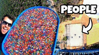 Catching 1 MILLION ORBEEZ from 45m Tower!