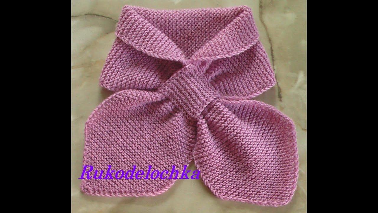 Вязание детских шарфиков спицами для начинающих 57