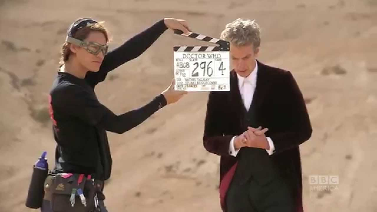 Doctor Who Season 9 - Filming on set with Peter Capaldi and Rachel Talalay