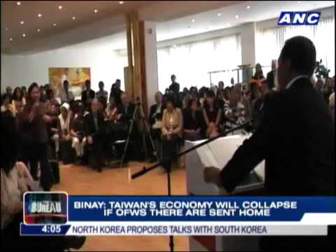 Binay   Taiwans economy will collapse if OFWs leave