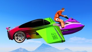 NEW TRANSFORMING DLC RACES! (GTA 5 Funny Moments)