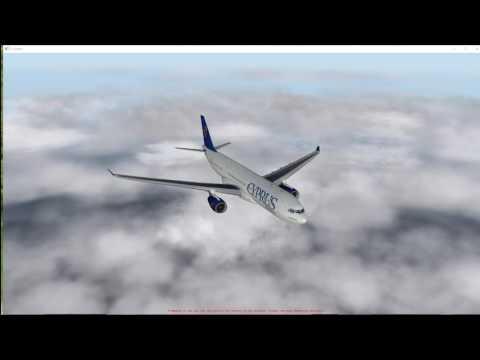 flight  simulator  X-plane 10  party flight from Amsterdam to Barcelona
