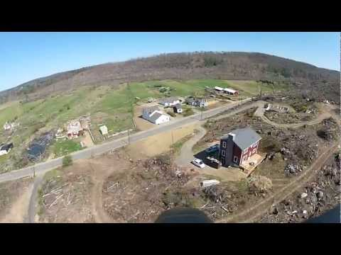 FPV flight over Tornado damage in Brimfield, MA - Flown with Dragon Link