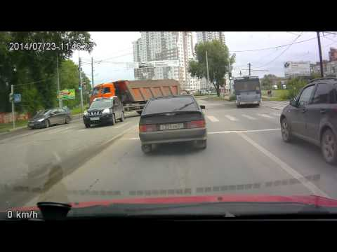 Авария с Камазом в Перми 23 07 2014