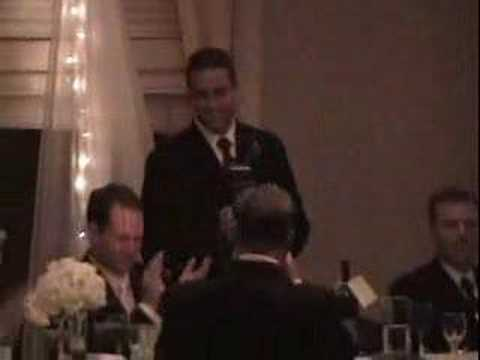 A very funny Best Man speech by Tommy delivered at Susan and Dominic's wedding. Get Best Man Speeches here: www.BestManSecrets.com.