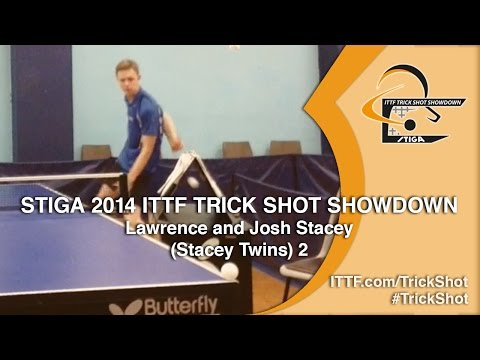 Joshua and Lawrence Stacey - STIGA 2014 ITTF TrickShot Showdown