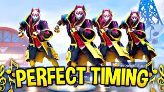 We timed Fortnite Dances & Emotes Perfectly and It looked AMAZING #2! (Fortnite Battle Royale)