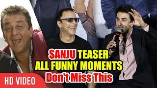 Back to Back Funny Moments | Ranbir Kapoor, And Team | Sanju Official Teaser Launch