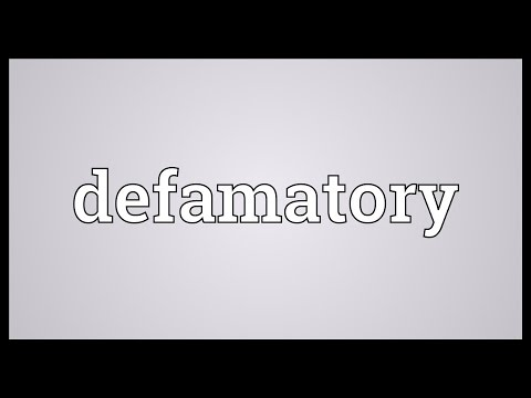 Header of defamatory