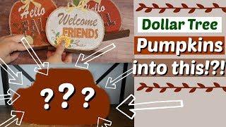 Cute DIY Farmhouse Fall Decor | DIY Dollar Tree Fall Craft | Pumpkin Patch Craft | KraftsbyKatelyn