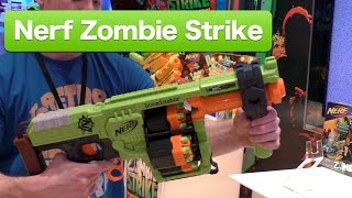 Nerf Zombie Strike Doominator and Biosquad, First Look Toy Fair 2015