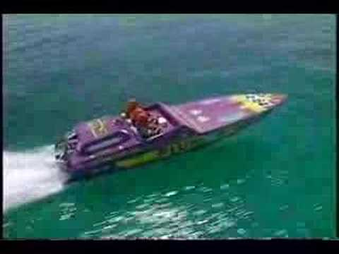High Speed Power Boats Pantera 24' 1 x 600hp Video