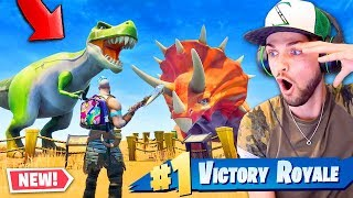 FINDING *NEW* Season 5 DINOSAURS in Fortnite: Battle Royale!