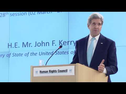 Secretary Kerry Delivers Remarks at the 28th Session of the Human Rights Council