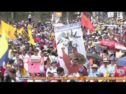 Venezuela opposition leader holds rally