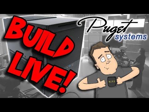 Puget Systems Gaming HTPC Build Livestream