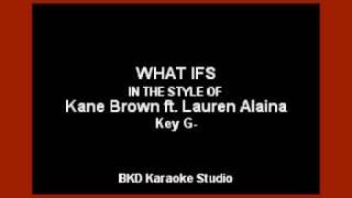 Download Lagu Kane Brown - What ifs (ft. Lauren Alaina) (Karaoke Version) Gratis STAFABAND