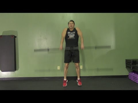 Barbell Power Clean from Floor - HASfit Olympic Exercise - Olympic Lift Form Image 1
