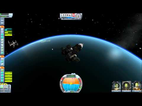 Kerbal Space Program - Docking and flying an interplanetary ship.